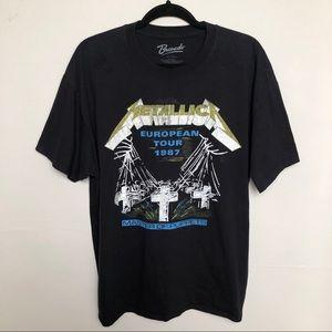 Bravado Metallica European Tour 1987 Graphic Tee L